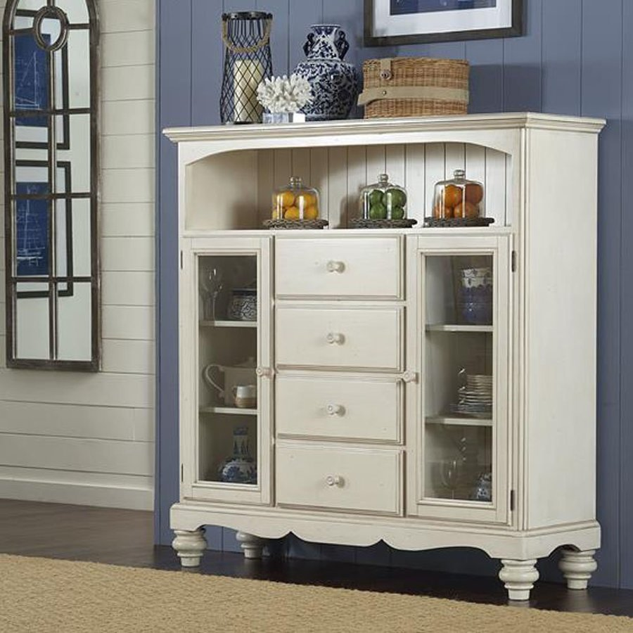 Hillsdale Furniture Pine Island Old White Pine Curio Cabinet