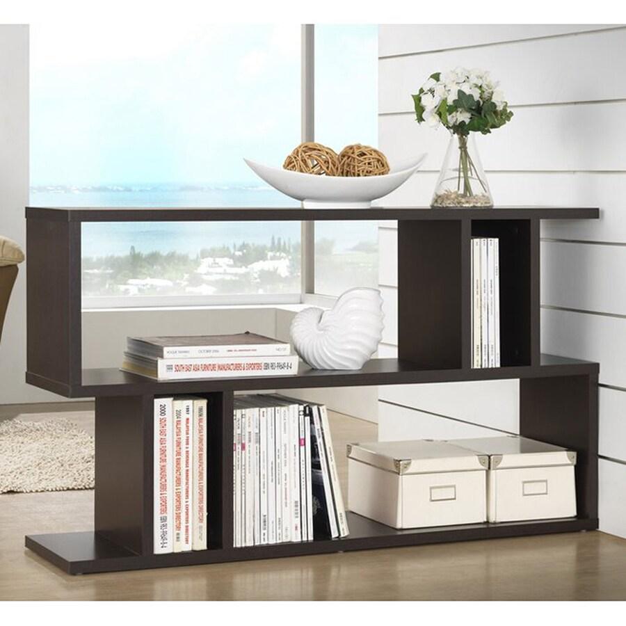 Baxton Studio Goodwin Espresso 3-Shelf Bookcase