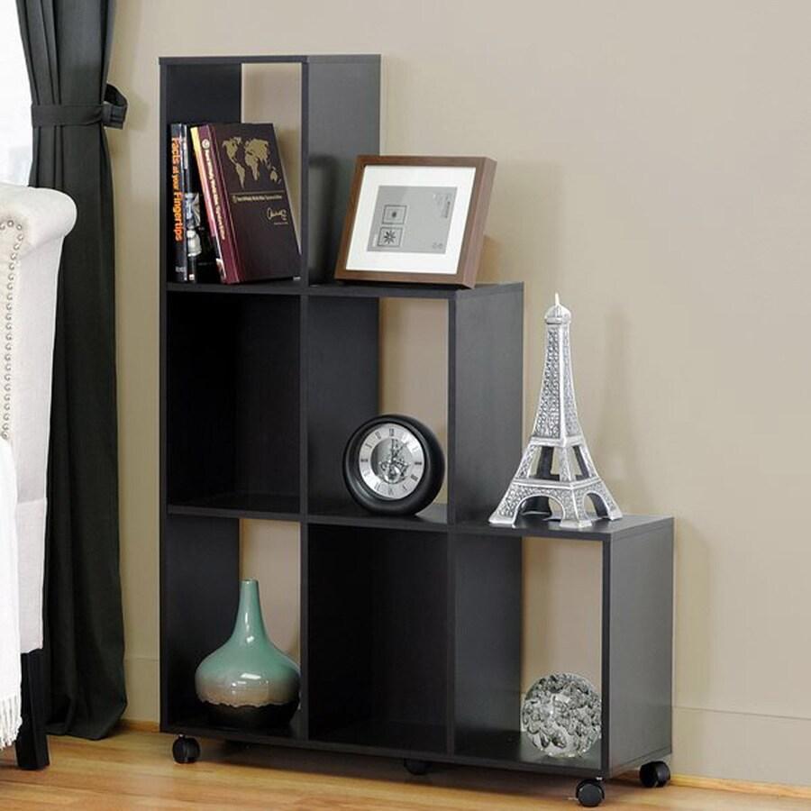 Baxton Studio Hexham Dark Brown 6-Shelf Bookcase