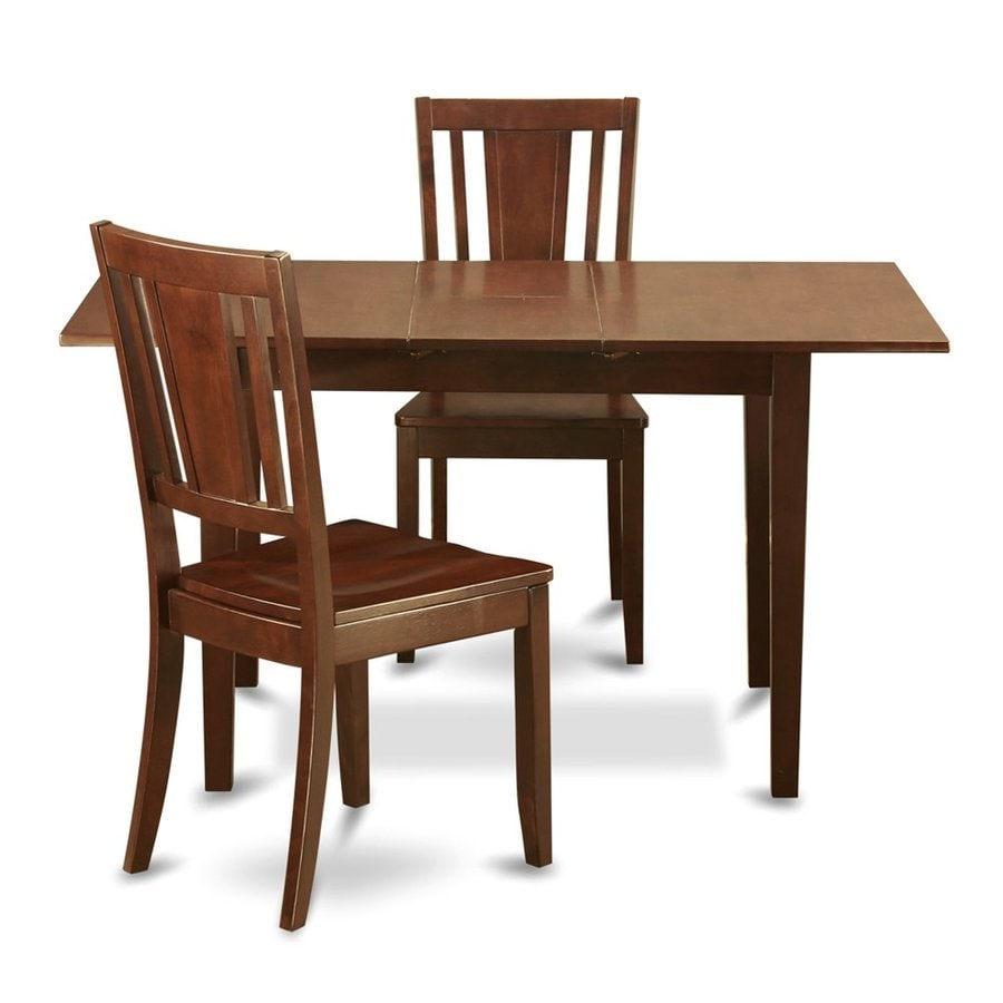 East West Furniture Norfolk Mahogany 3 Piece Dining Set With Dining Table