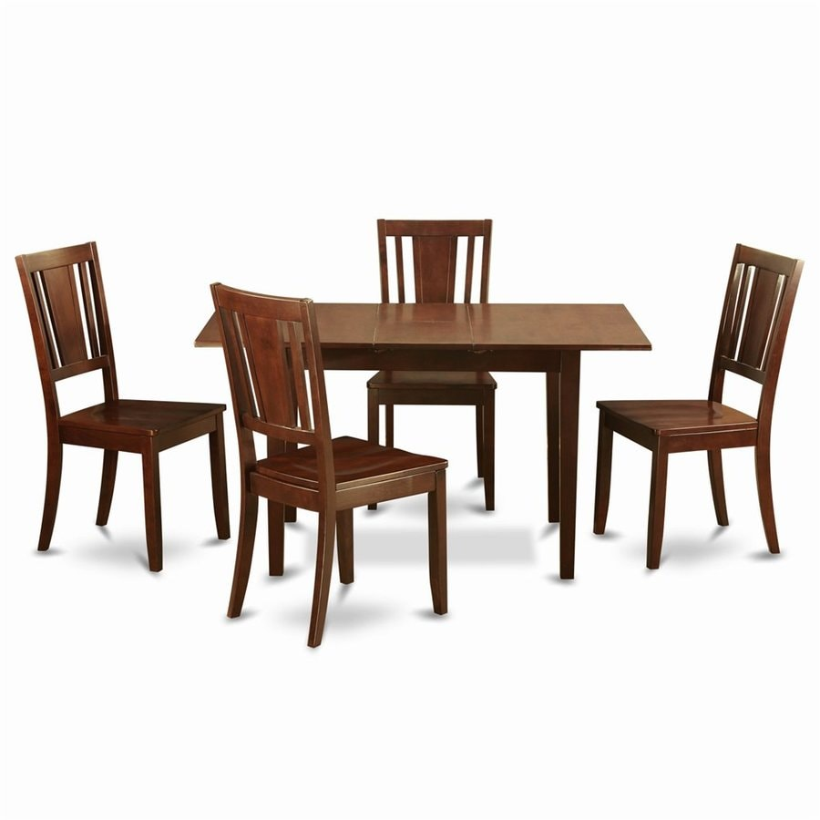 East West Furniture Norfolk Mahogany Dining Set with Rectangular Dining (29-in to 31-In) Table