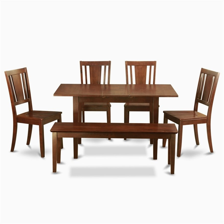 East West Furniture Norfolk Mahogany 6 Piece Dining Set With Dining Table