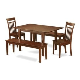 East West Furniture Picasso Mahogany 5 Piece Dining Set With Dining Table