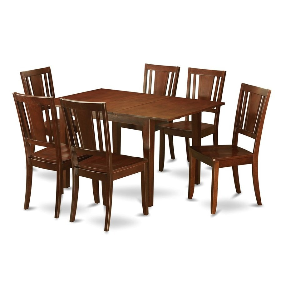 Shop east west furniture picasso mahogany piece dining
