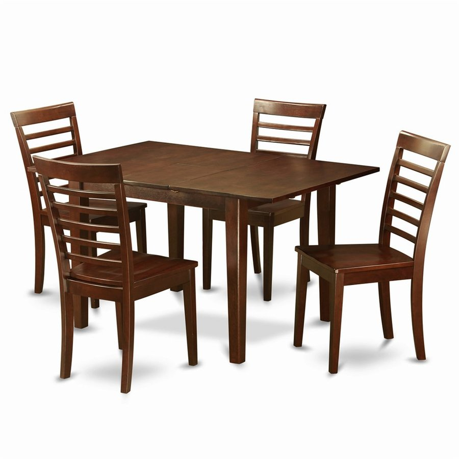 East West Furniture Picasso Mahogany Dining Set with Rectangular Dining (29-in to 31-In) Table