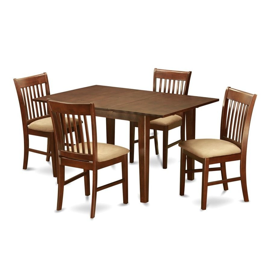 East West Furniture Picasso Mahogany 5-Piece Dining Set with Dining Table