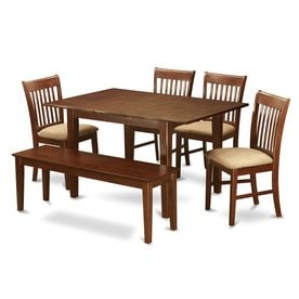 East West Furniture Picasso Mahogany 6 Piece Dining Set With Dining Table