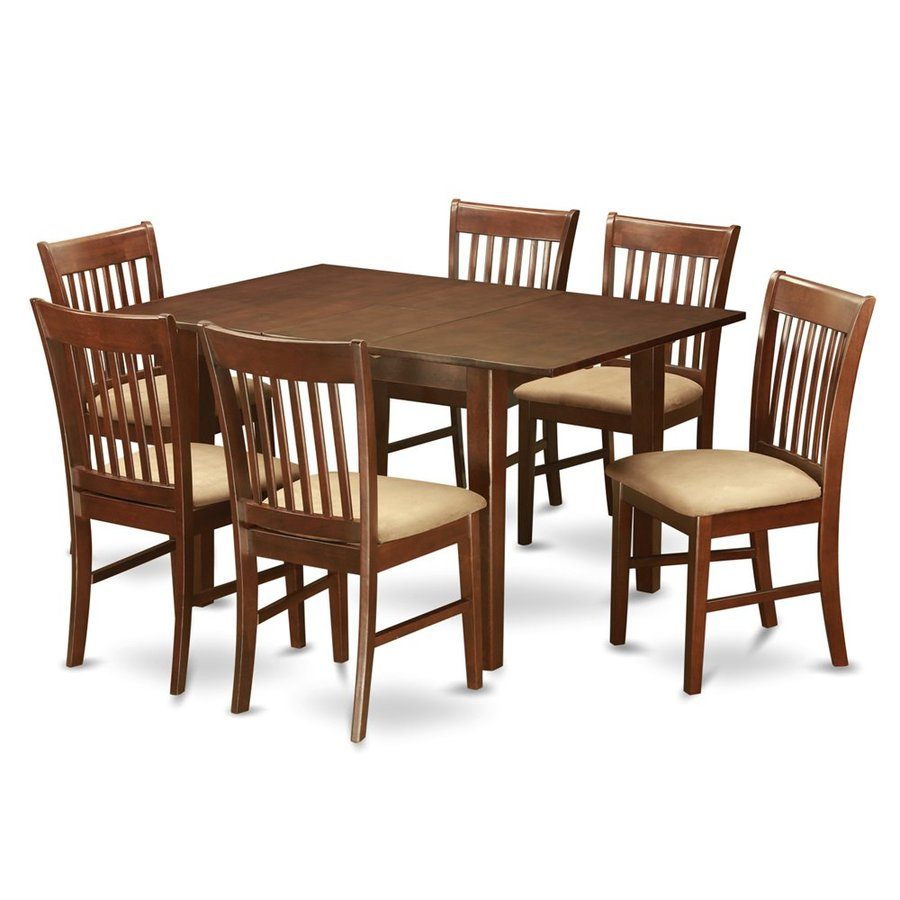 East West Furniture Picasso Mahogany 7-Piece Dining Set with Dining Table