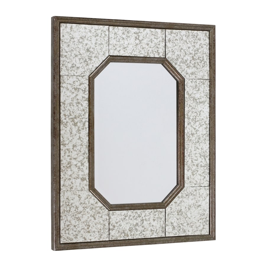 Aspire Home Accents Lunette Pewter Brown Polished Wall Mirror