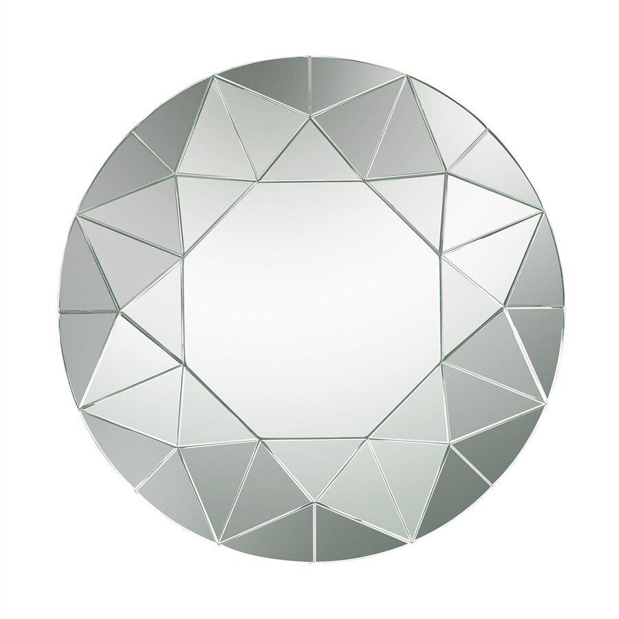 Geometric Wall Mirror shop dimond home circular geometric round frameless wall mirror at