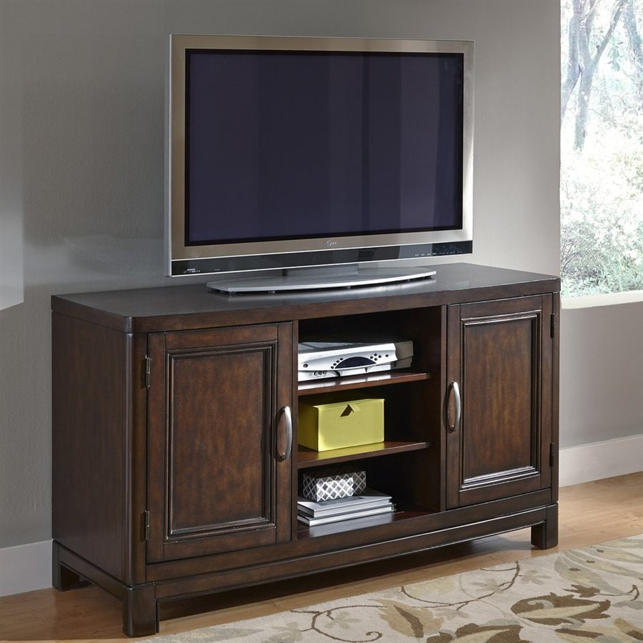 Home Styles Crescent Hill Two-Tone Tortoise Shell Tv Cabinet