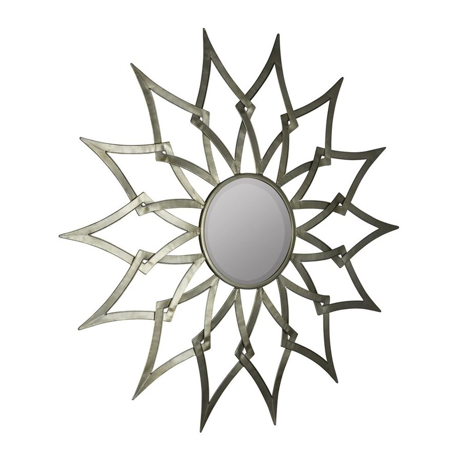 Cooper Classics Ronnie Silver Beveled Round Wall Mirror
