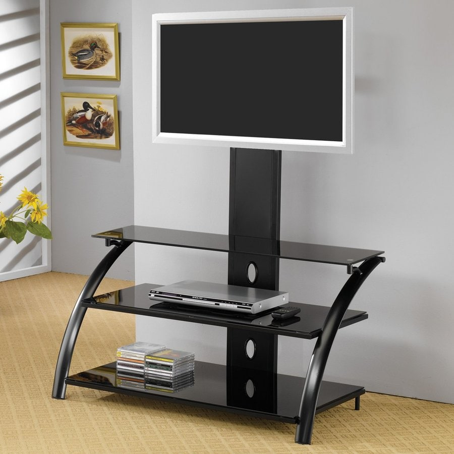 Coaster Fine Furniture Black Integrated Mount TV Stand