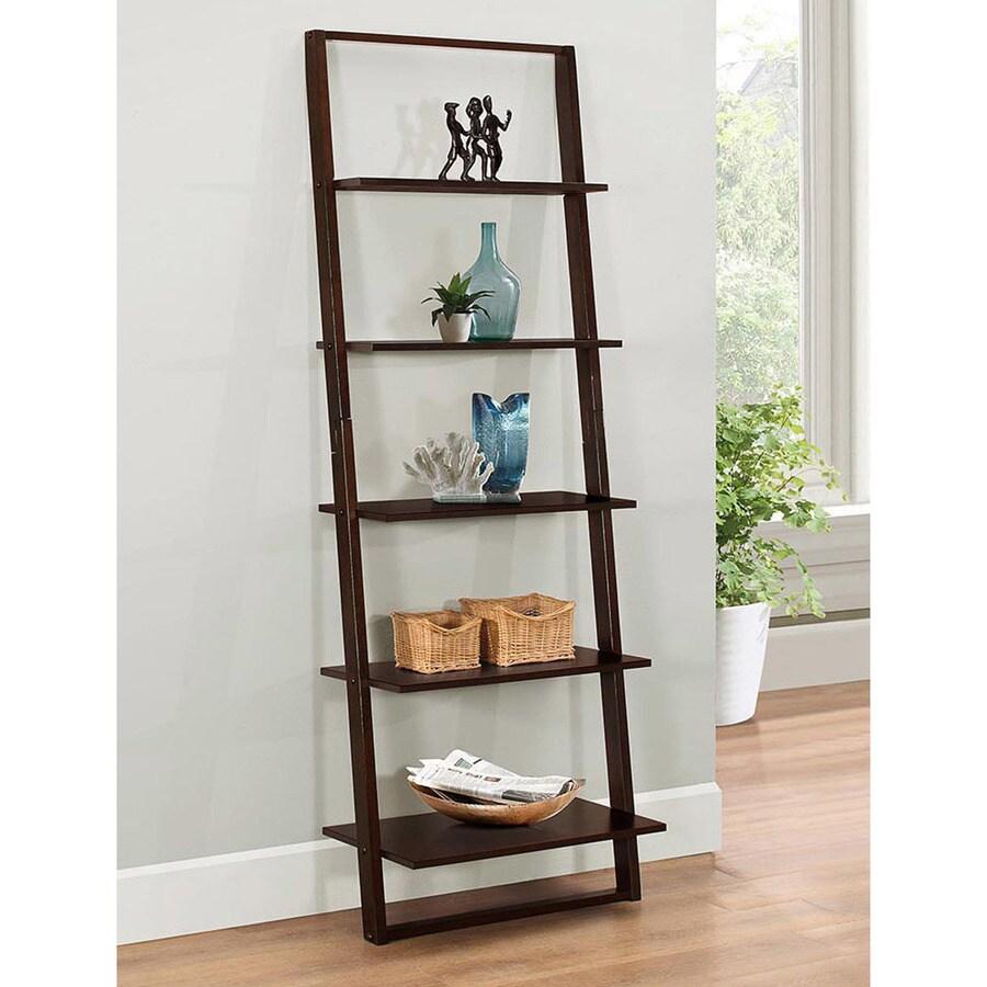 4D Concepts Arlington Dark Cappuccino 5-Shelf Bookcase