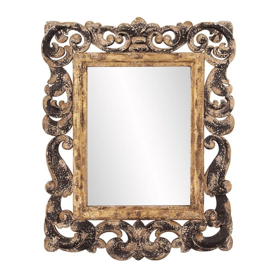 Howard Elliott Isaac Metallic Gold Wall Mirror