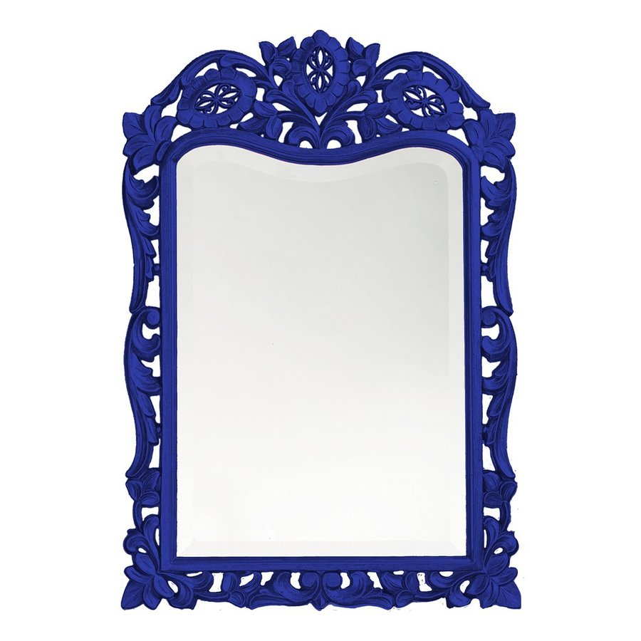 Howard Elliott St. Augustine Royal Blue Beveled Arch Wall Mirror