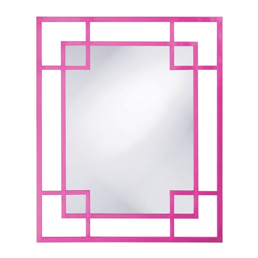 Howard Elliott Lois Hot Pink Framed Wall Mirror