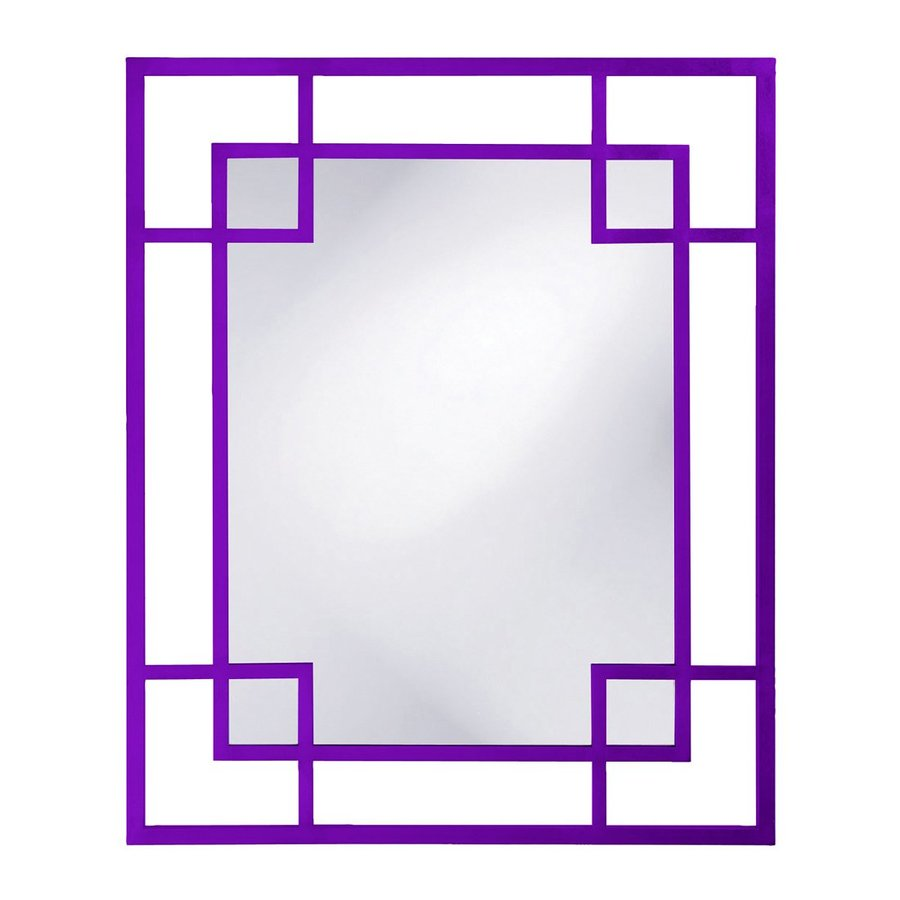 Howard Elliott Lois Royal Purple Framed Wall Mirror