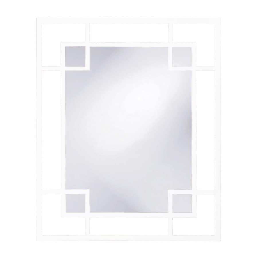 Howard Elliott Euphoria White Framed Wall Mirror