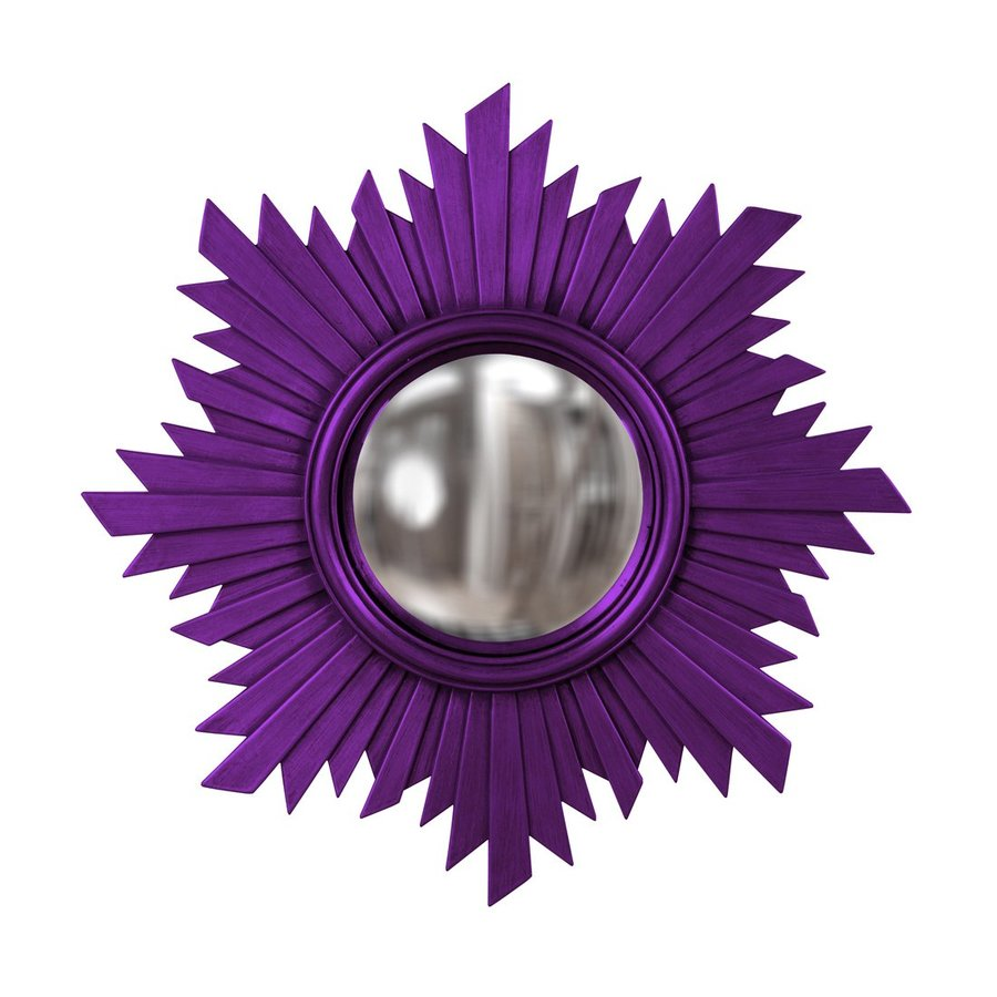 Howard Elliott Euphoria Royal Purple Polished Round Wall Mirror