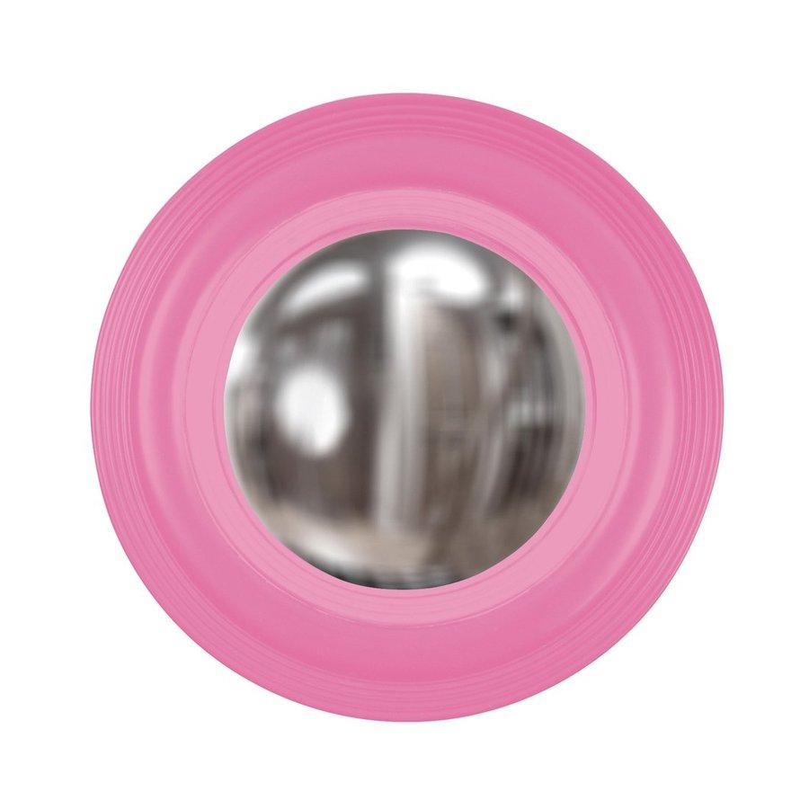 Pink Wall Mirror shop howard elliott soho hot pink framed round wall mirror at