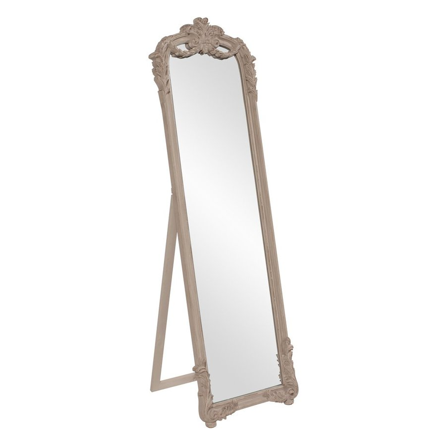 Howard Elliott Monticello Distressed taupe Framed Floor Mirror