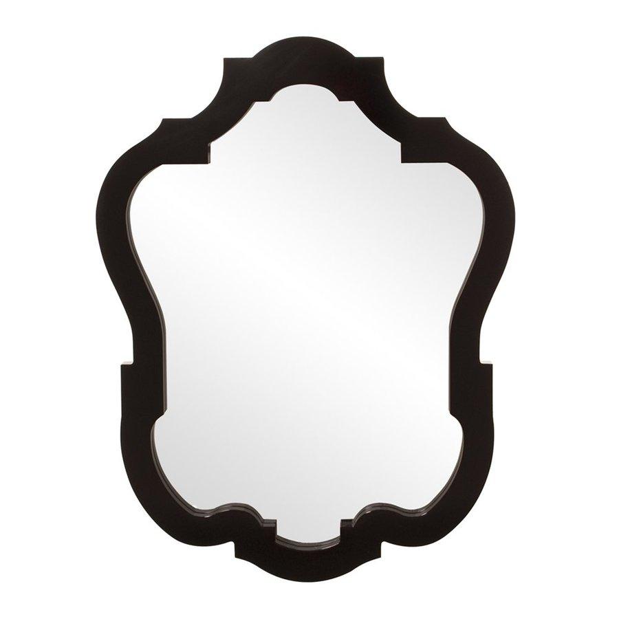 Howard Elliott Asbury Glossy Black Framed Arch Wall Mirror