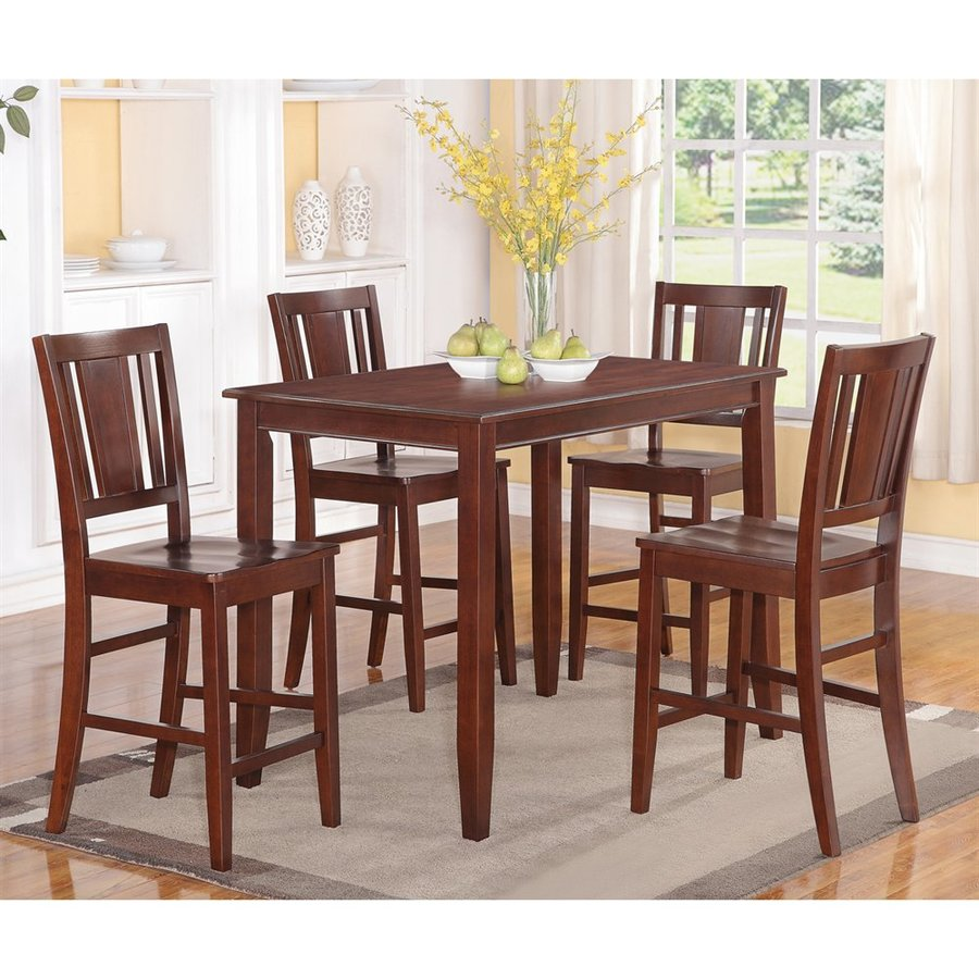 East West Furniture Buckland Mahogany Dining Set With Counter Height Table