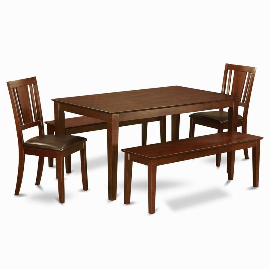 East West Furniture Capri Mahogany 5-Piece Dining Set with Dining Table