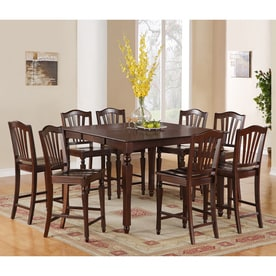 East West Furniture Chelsea Mahogany Dining Set With Counter Height Table