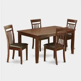East West Furniture Dudley Mahogany 5 Piece Dining Set With Dining Table