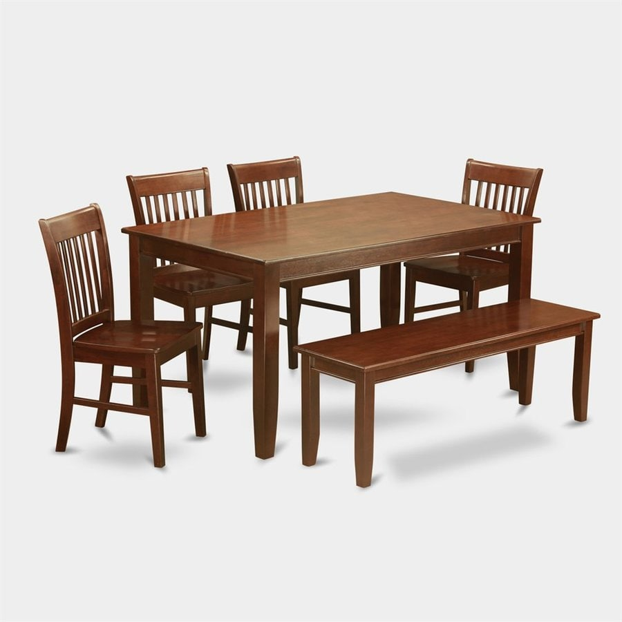 East West Furniture Dudley Mahogany 6 Piece Dining Set With Dining