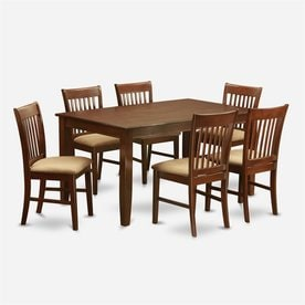 east west furniture dudley mahogany 7piece dining set with dining table