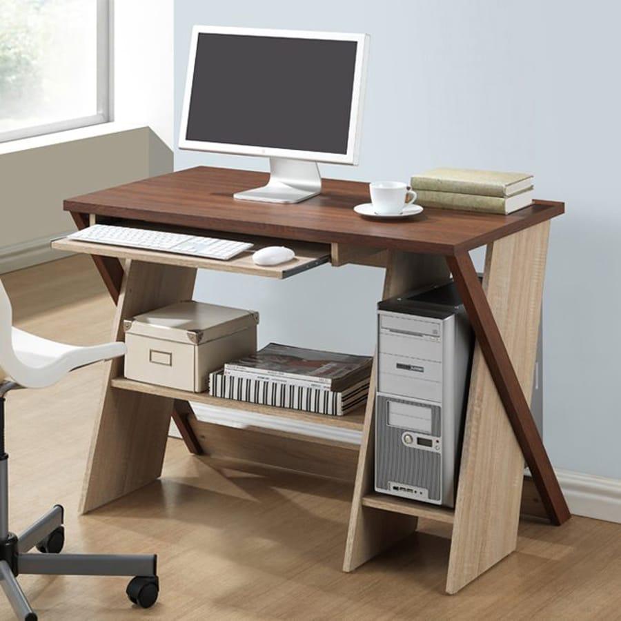 Baxton Studio Rhombus Contemporary Sonoma Oak Writing Desk
