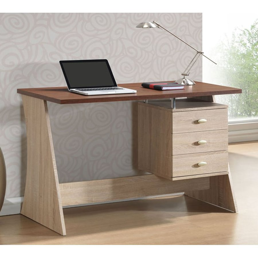 Baxton Studio Parallax Contemporary Sonoma Oak Writing Desk