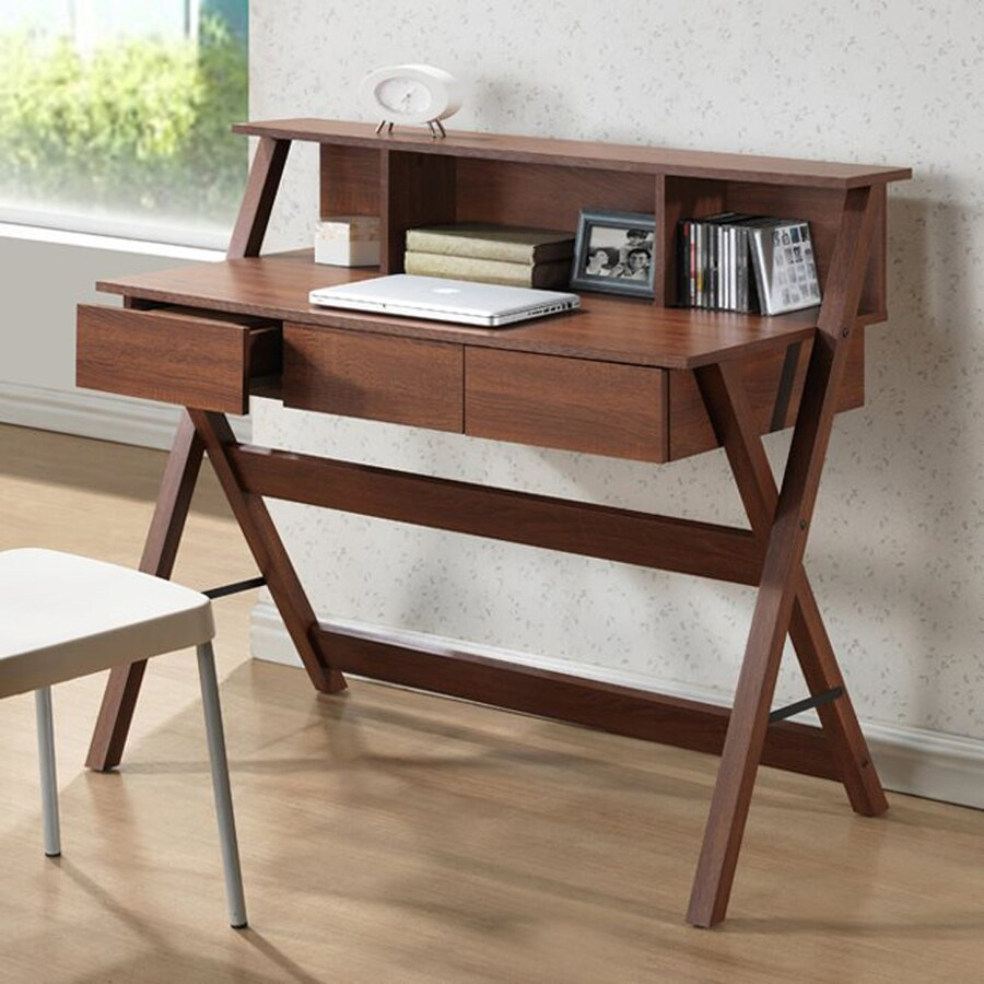 Shop Baxton Studio Crossroads Ii Sonoma Oak Writing Desk