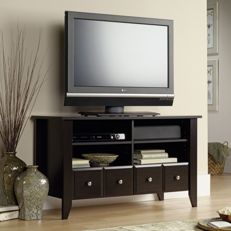Sauder Shoal Creek Jamocha Wood TV Cabinet