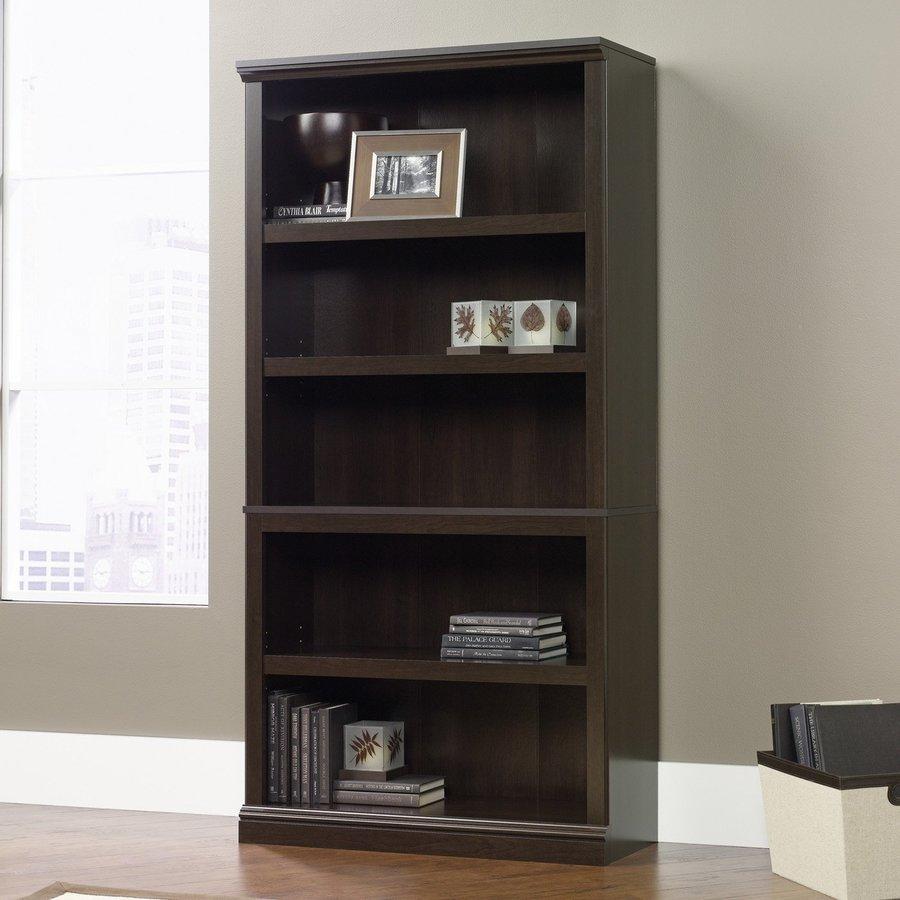 Sauder Cinnamon Cherry 5-Shelf Bookcase