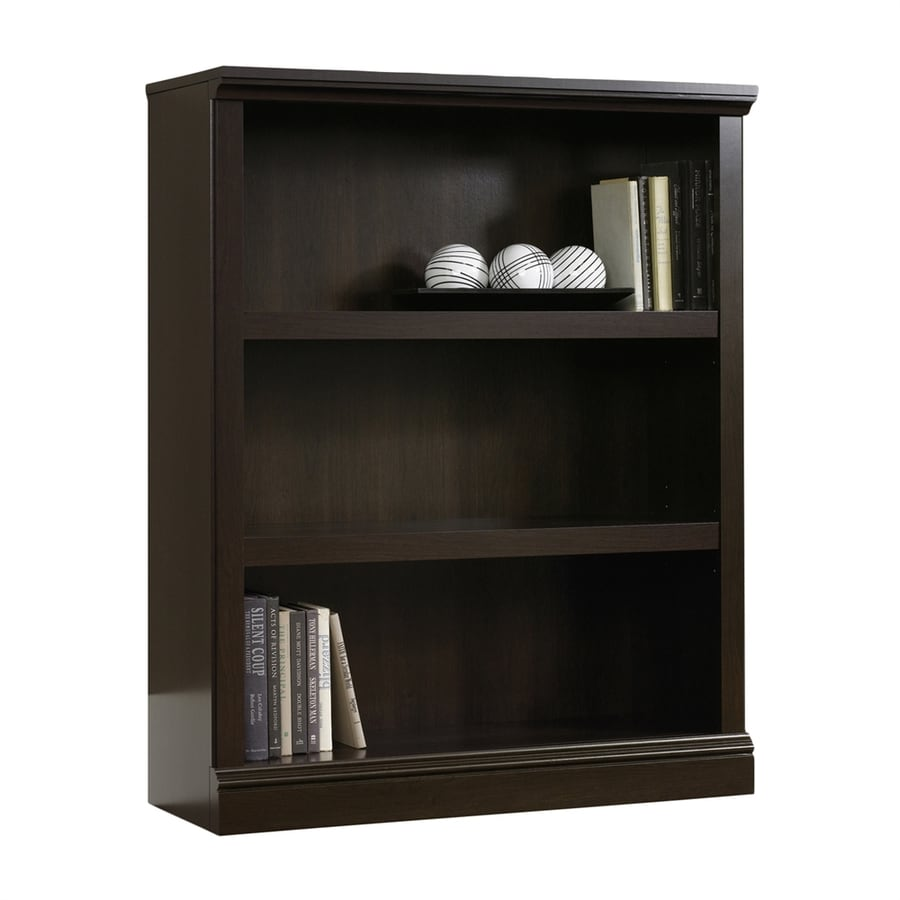 Sauder Cinnamon Cherry 3-Shelf Bookcase