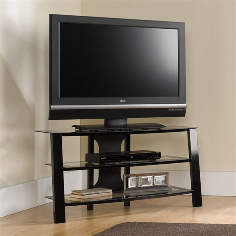 Sauder Mirage Black Tv Cabinet