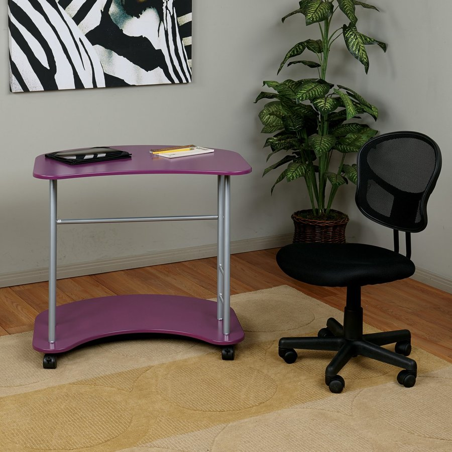 Office Star OSP Designs Contemporary Purple Writing Desk