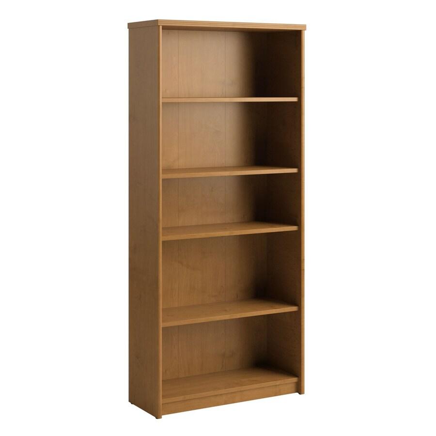 Bush Furniture Envoy Natural Cherry 5-Shelf Bookcase