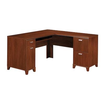 Bush Furniture Tuxedo Transitional Hansen Cherry L Shaped