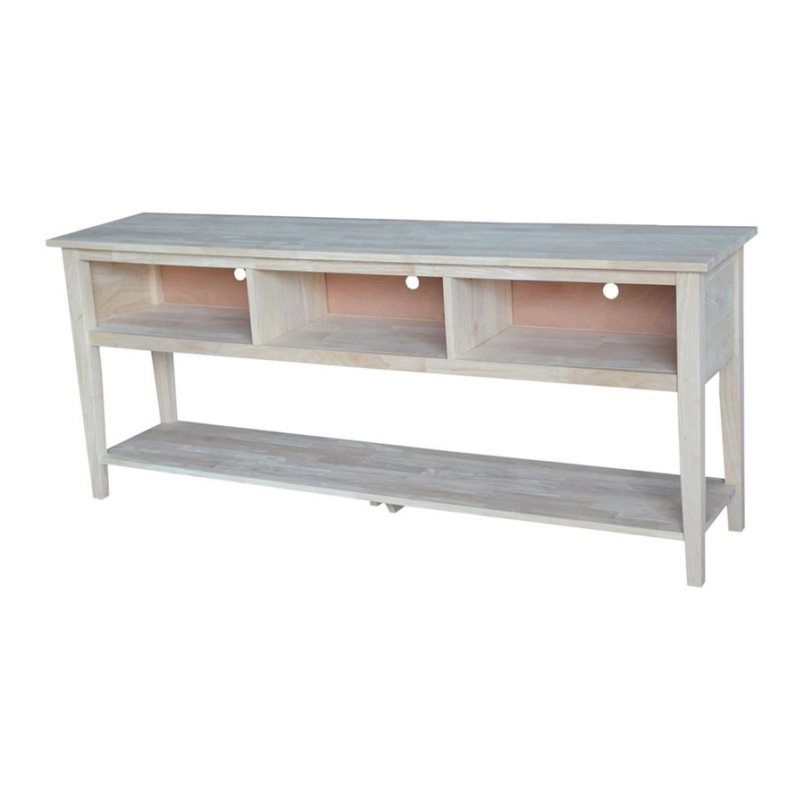 International Concepts Natural Universal TV Stand