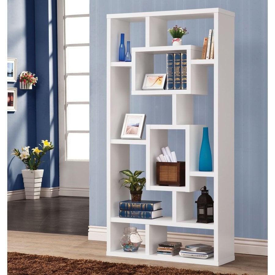 Coaster Fine Furniture White 10-Shelf Bookcase