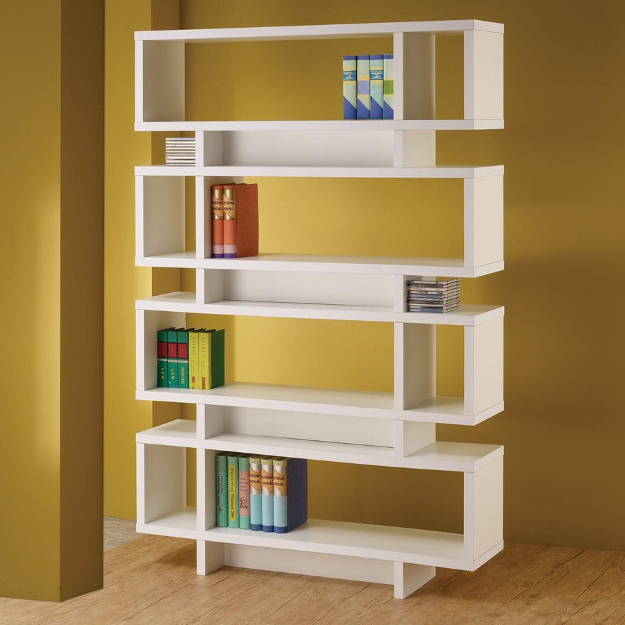Coaster Fine Furniture White 4-Shelf Bookcase
