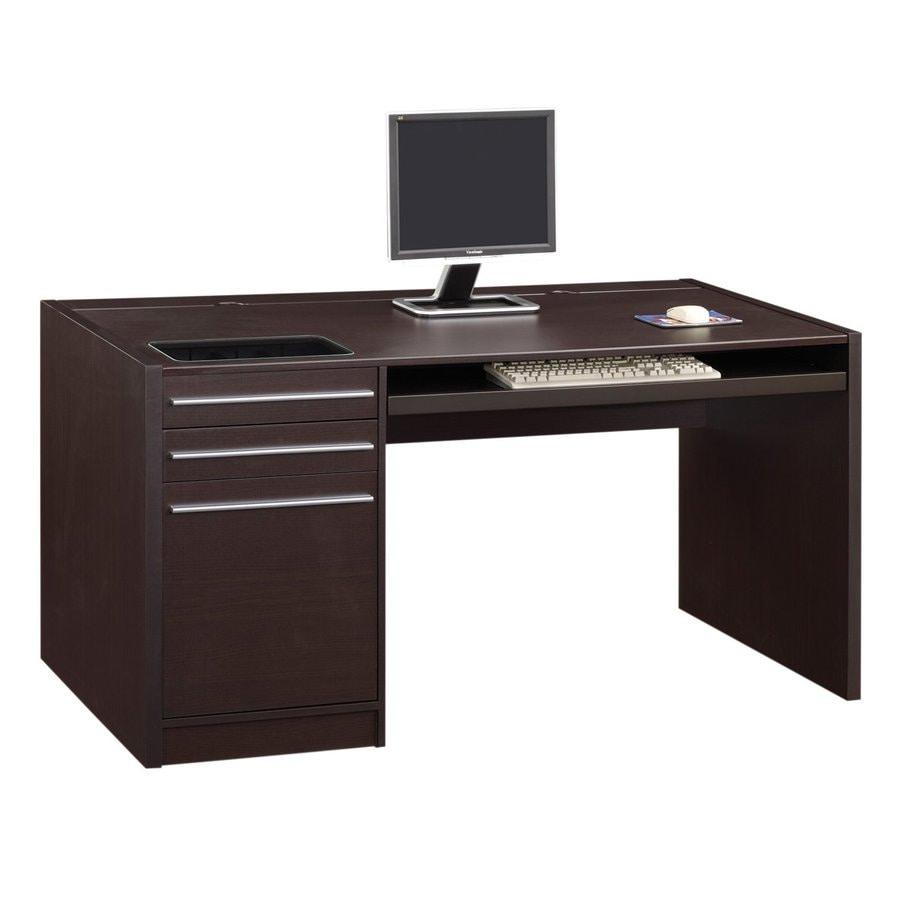 Contemporary Cappuccino Connect It Computer: Coaster Fine Furniture Connect-It Contemporary Computer