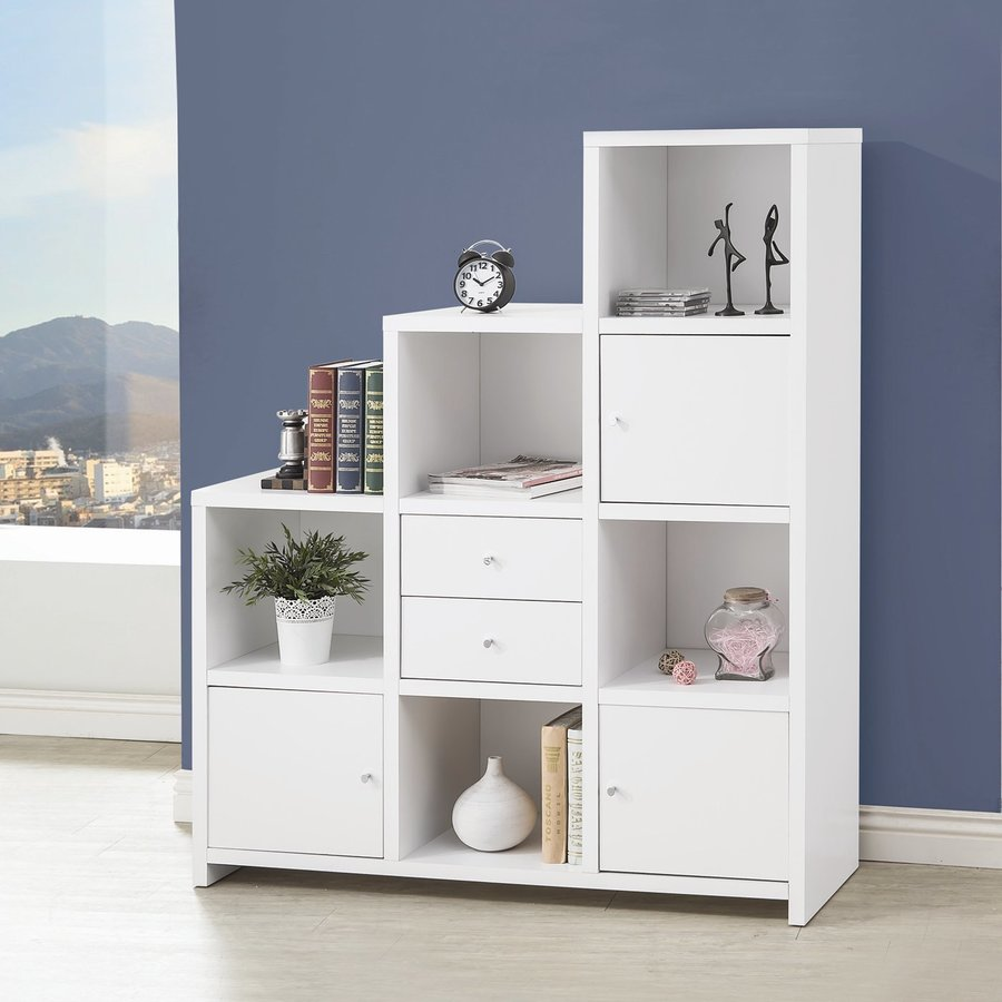 Coaster Fine Furniture White Bookcase