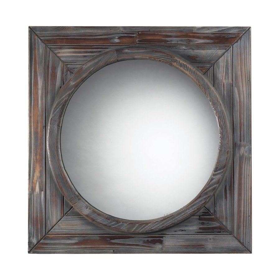 Sterling Home Grey Polished Round Wall Mirror