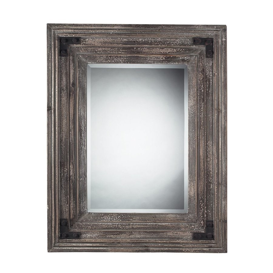 Sterling Home Brown Beveled Wall Mirror